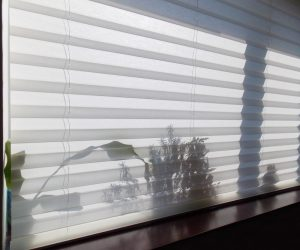 Gray Honeycomb Blinds — Elegant Blinds Awnings in Taree, NSW